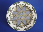 Early Royal Doulton Iznik Style 'Floral Pattern E - Inlaid Star' Series Rack Plate D3572 c1914 #2